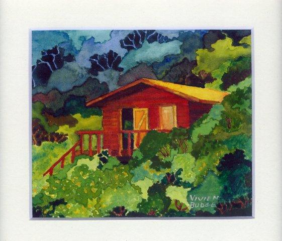 86 Otter Trail Hikers\' Hut by Vivien Budge in Watercolour