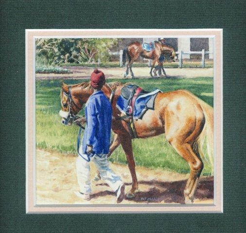 90B Novice Filly by Pat Puttergill in Watercolour