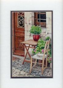 28 Quiet Corner by Chrysoula Srgyros in Watercolour