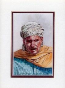 31 Moroccan Herdsman by Chrysoula Argyros in Watercolour