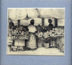 38 Hazyview Roadside Market by Charmian Kennealy in Pencil