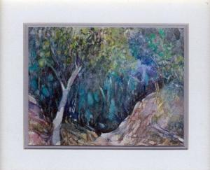 41 The Forest beyond the Sentinel by Charmian Kennealy in Mixed Media