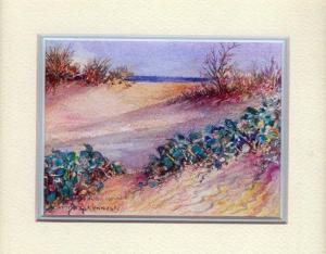 43 Evening Beach E. Cape by Charmian Kennealy in Mixed Media