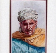 31 Moroccan Herdsman by Chrysoula Argyros in Watercolour